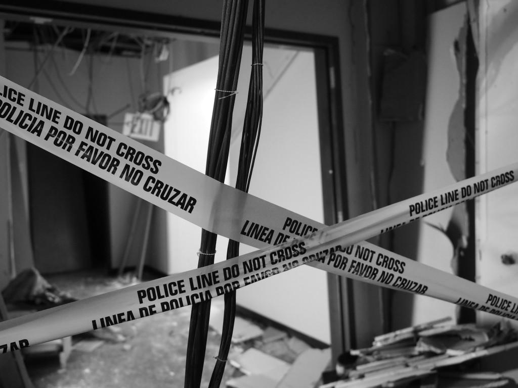 Photos by Jubenal Aguilar Damage from the bomb that killed Johnson marks the spot inside El Centro's B Building where the shooter took his last stand against Dallas police.