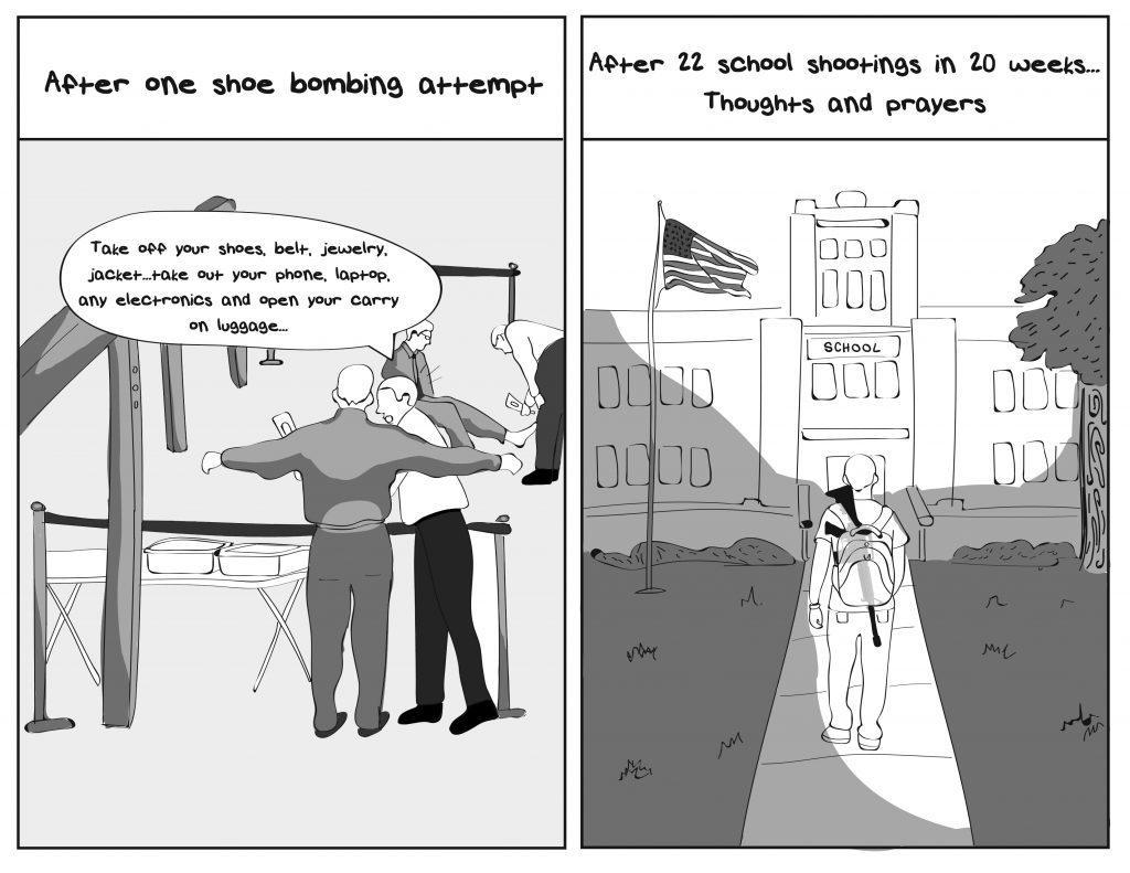 Shootings political cartoon