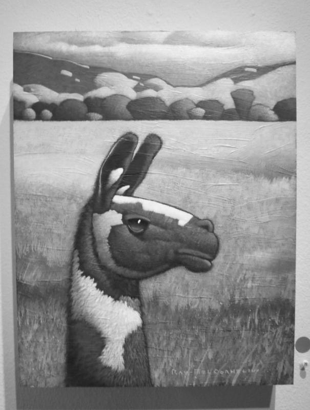 "Cornelius' painting, titled ""Llama,"" sold before the opening of his gallery show"