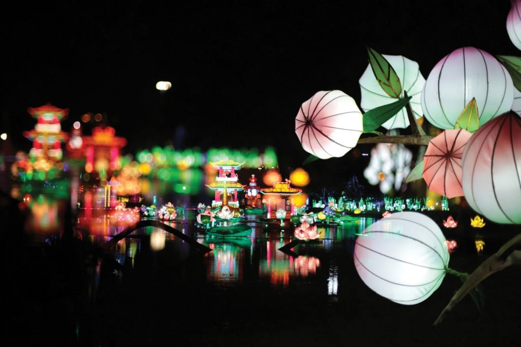 Photos by Kathy Tran and Paul Lauder | Kathy Tran's winning photograph features an in-camera, double-exposed image snapped at the Chinese Lantern Festival.