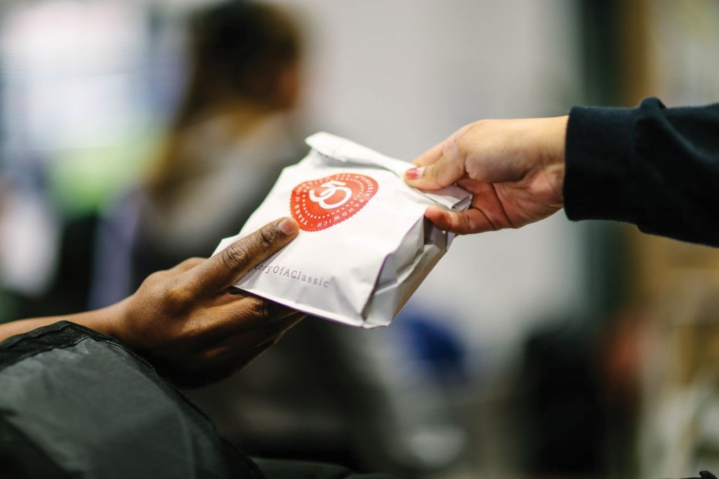 Photos by Kathy Tran | The SGA gives out one of 55 sandwiches sold in its attempt to offer more food options.