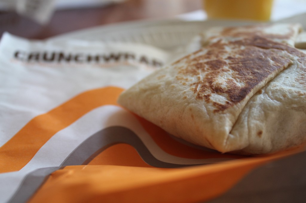 Photo by Kathryn DeBruler | Introducing, Taco Bell's new A.M. Crunchwrap.
