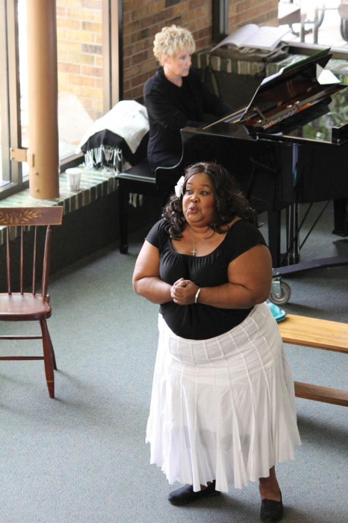 """The recital began with Rose Taylor singing """"If I Loved You."""""""