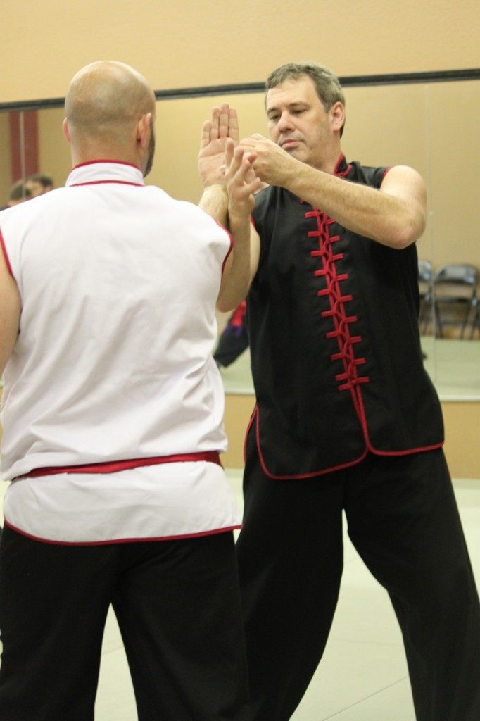 Sifu George Giatrakis demonstrates a Kung Fu technique.