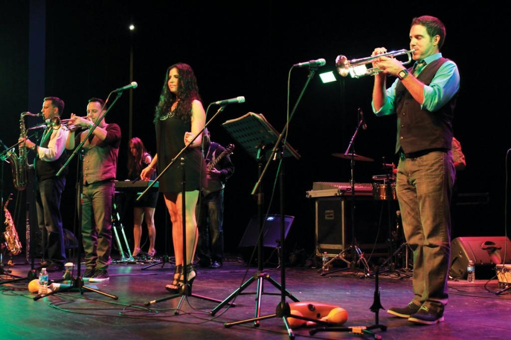 Havana NRG! performed a range of Latin rhythms, such as salsa, meringue and cumbia, during the concert in the Performance Hall.