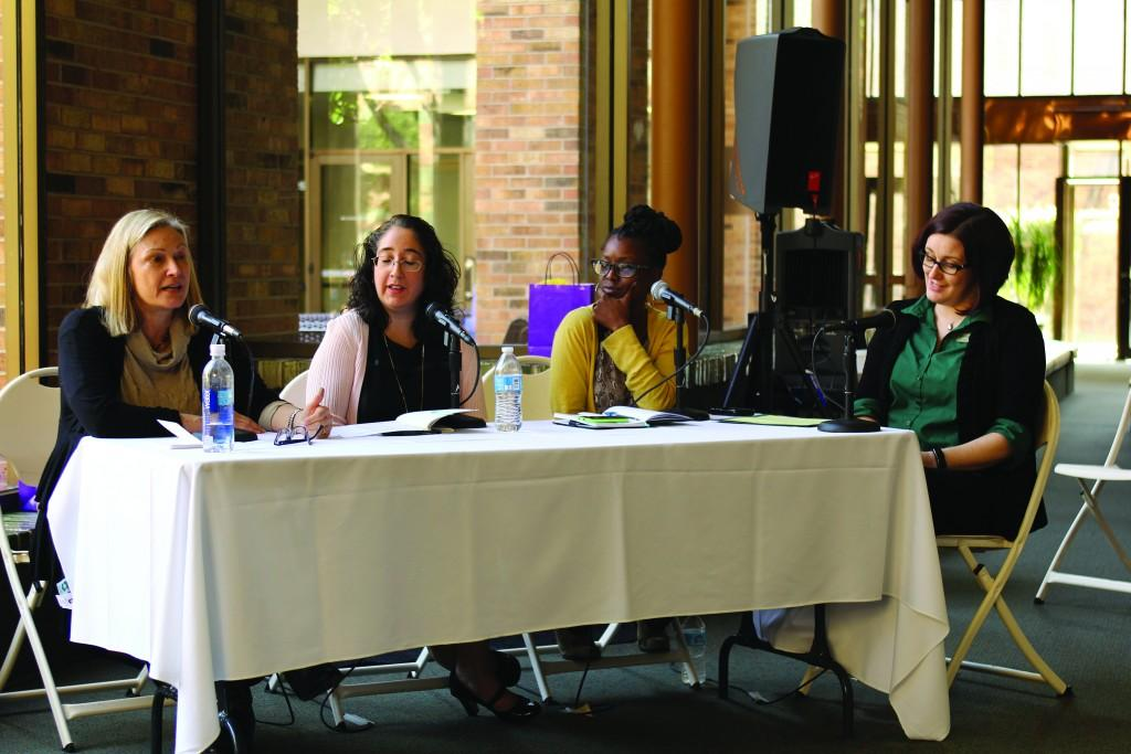 Photo By Willie R. Cole | Panelists Kaylie Jones, Michelle Navarro and Camika Spencer and moderator Dana Corbin offer insight into women's impact in literature.