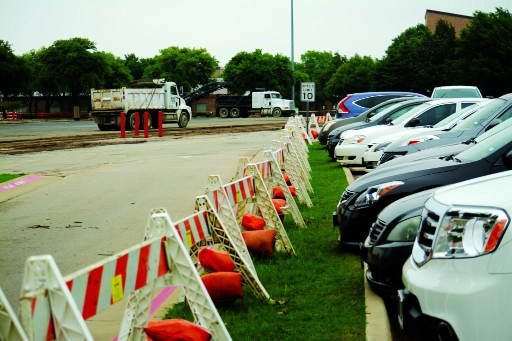 Photos by Jubenal Aguilar | Courier Students, faculty and staff must use the remaining lots to park their vehicles while P4 is under construction. The reconstruction to P4 is not expected to be complete until mid June.