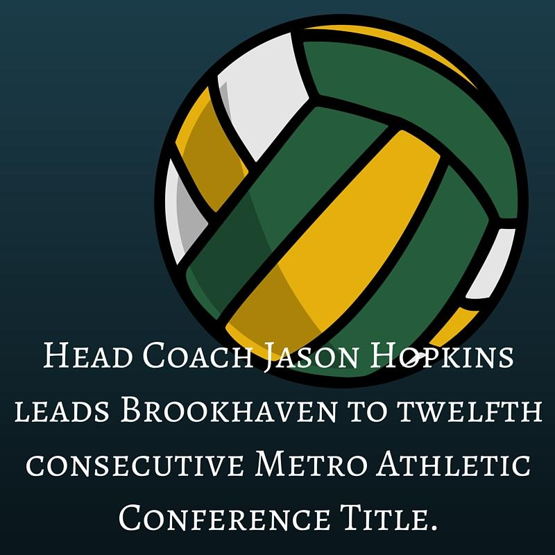 Head Coach Jason Hopkins leads Brookhaven to twelfth consecutive Metro Athletic Conference Title.