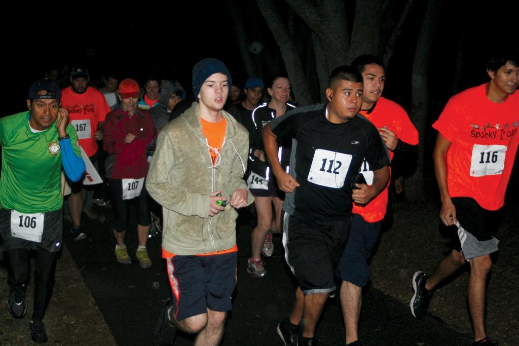 articipants get off to a running start at the fourth annual Spooky Trot, 5K Run/Walk benefiting Brookhaven College's food pantry;