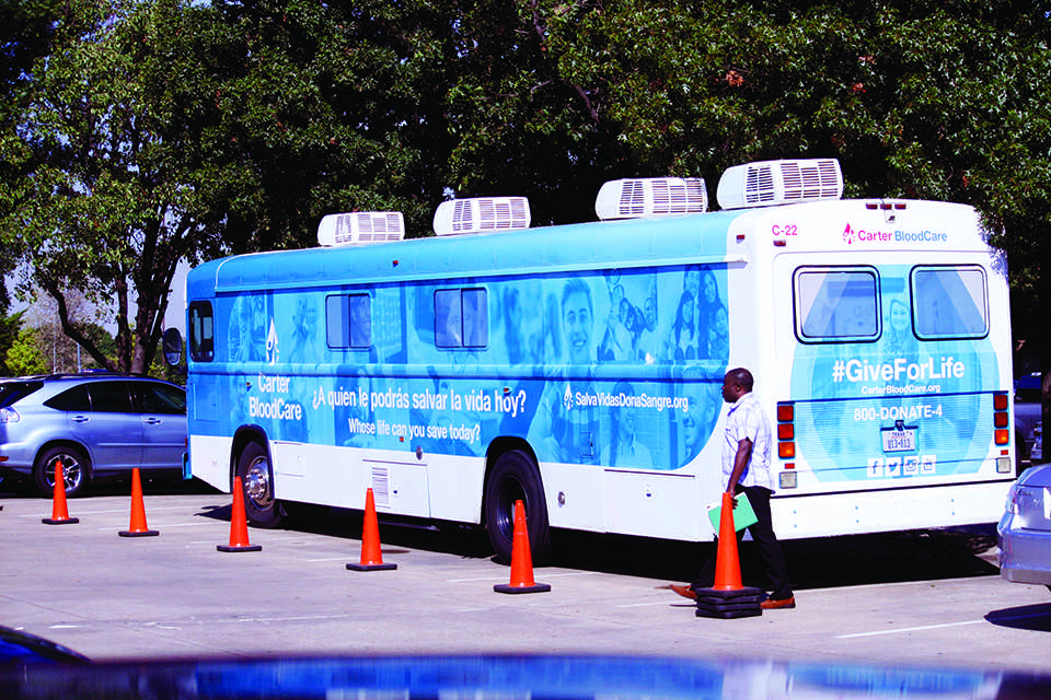 Photo by Emma Donohue The CarterBlood Care Blood Drive visits Brookhaven College once again.