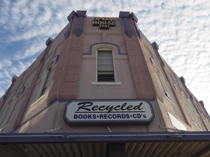 Photo by Jubenal Aguilar Recycled Books, Records, & CDs – Denton, Texas