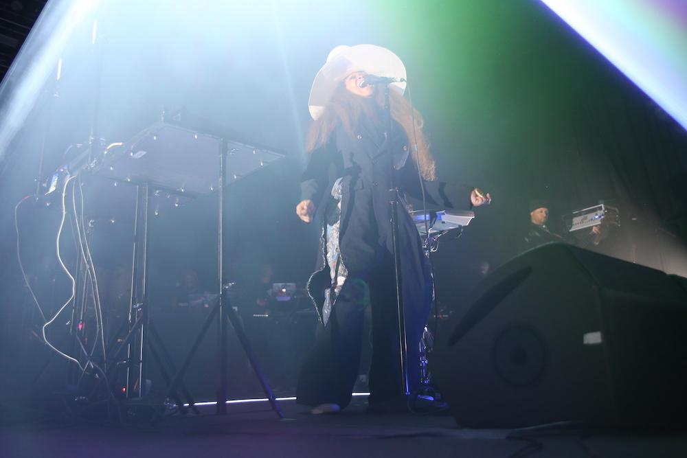 Queen of Neo-Soul Erykah Badu gives a passionate performance during her latest birthday bash at The Bomb Factory, Feb. 23.