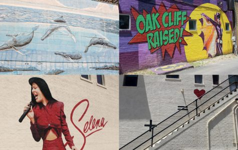 Collage of four murals