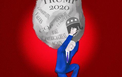 Trump 2020 illsutration