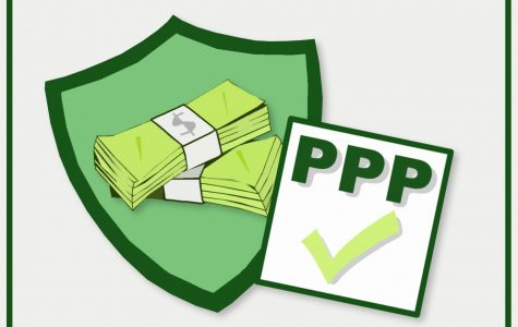 Illustration of money and PPP sign