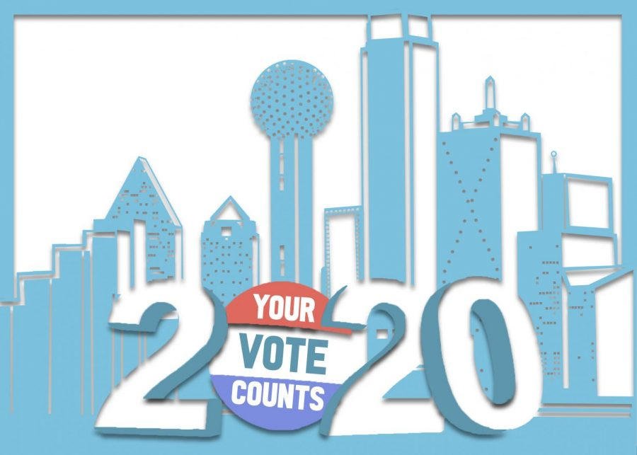 2020 Dallas voting illustration