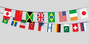 Illustration of International flags