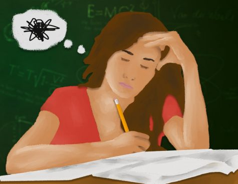 Student stress illustration