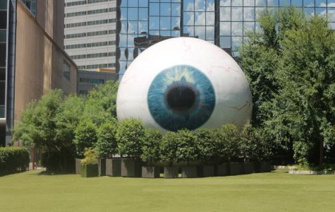 "Photo of sculpture ""The Eye,"" by Tony Tasset"