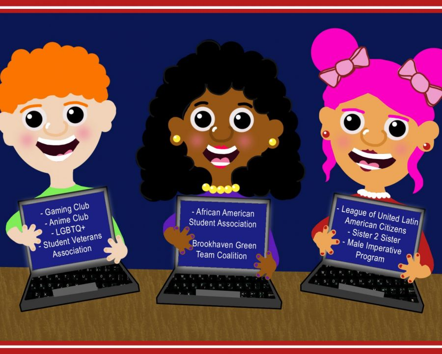 Student clubs continue online graphic.