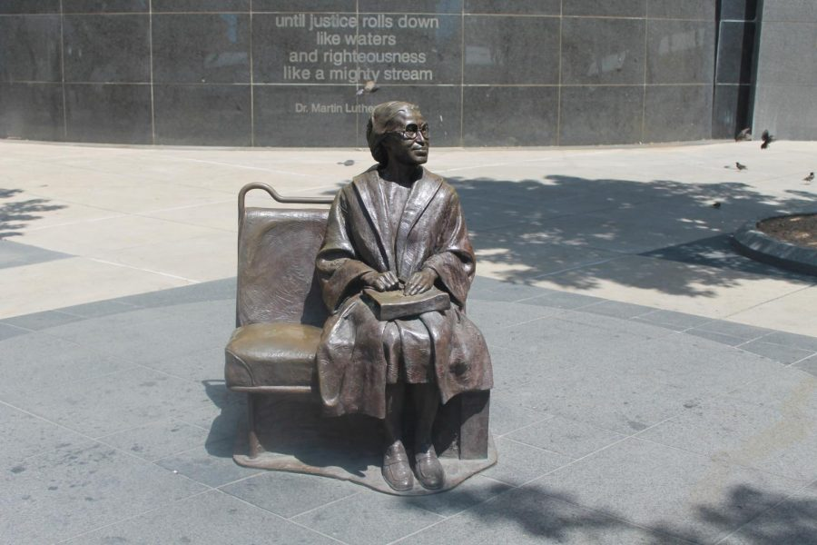 "Photo of sculpture ""Rosa Parks,"" by Erik Blome"
