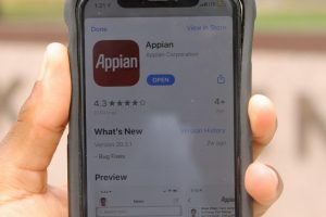 Image of Appian App on cell phone