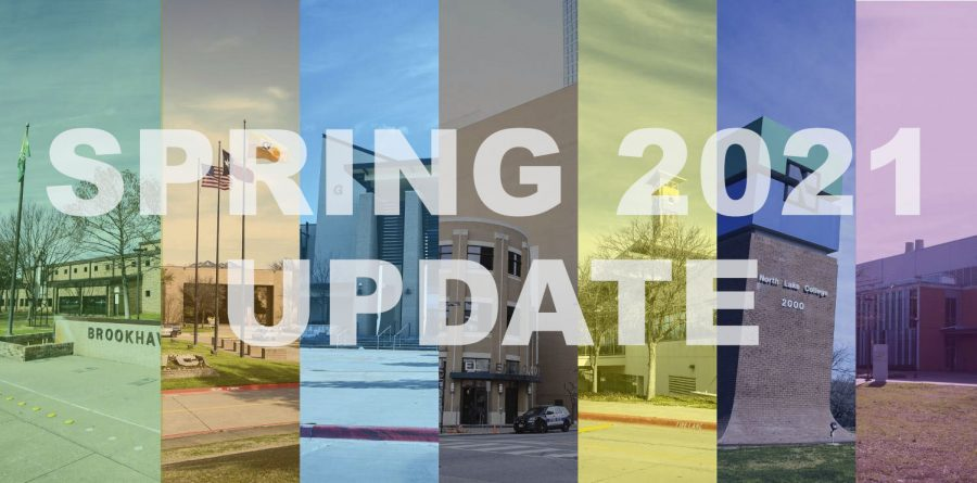Photo illustration with words Spring 2021 Update
