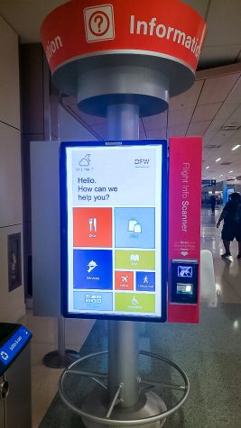 Image of touch screens at DFW Airport