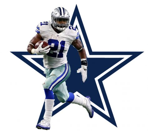graphic featuring a cowboys player
