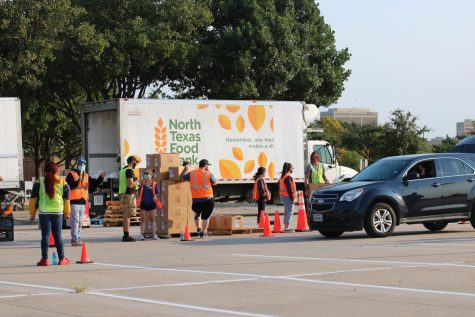 Dallas College teams with North Texas Food Bank to bring food to the community