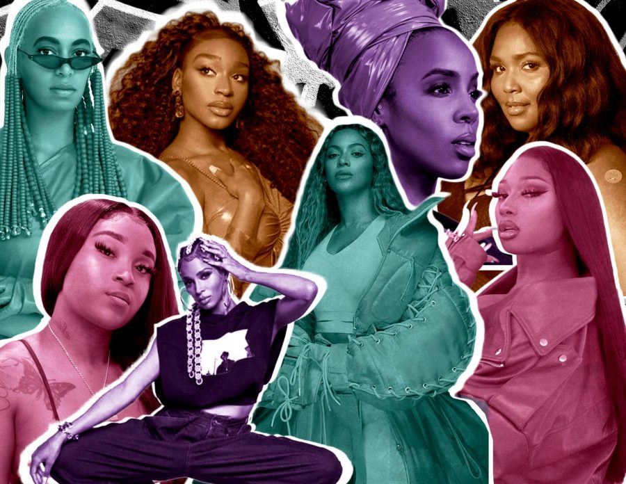black history month collage of women from Texas
