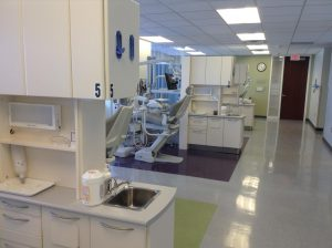 photo of dentist chair and dentist area
