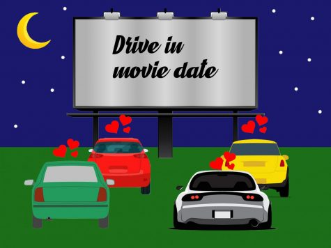 drive in movie illustration