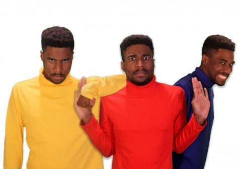 photo illustration of 3 black men with different emotional expressions
