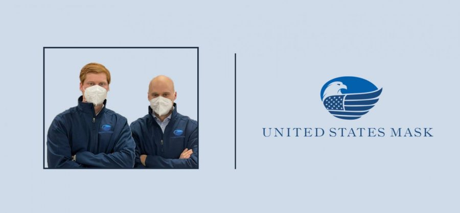 Photo of united mask business partners and logo