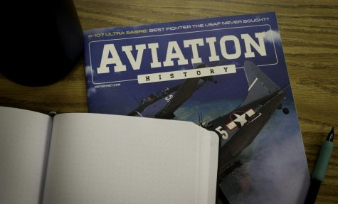 Photo of an aviation magazine with journal