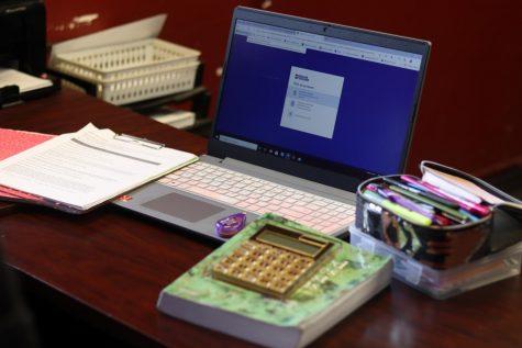 photo of computer set up at home