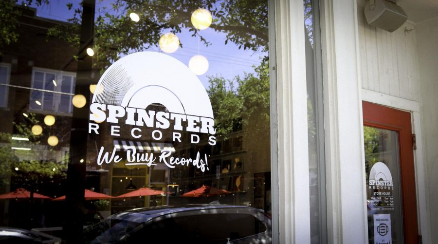 Photo of window of spinster records