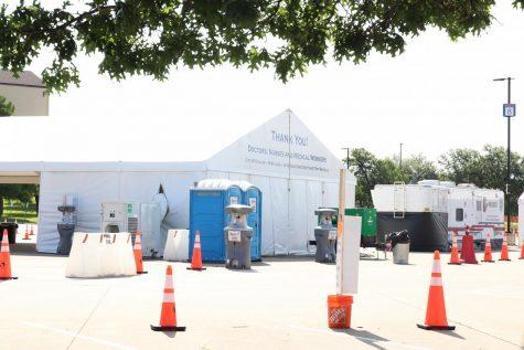 photo of vaccine tent