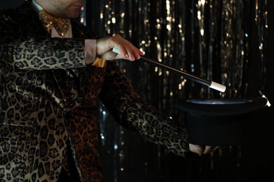 Magician performing a trick