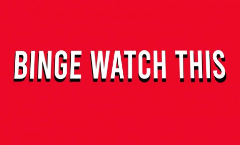 Binge Watch This words on red background